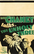 "Movie Posters:Crime, The Unholy Three (MGM, 1930). Window Card (14"" X 22"").. ..."