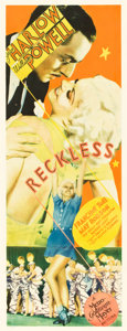 "Movie Posters:Drama, Reckless (MGM, 1935). Insert (14"" X 36"").. ..."
