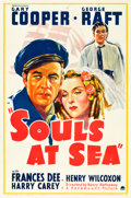 """Movie Posters:Adventure, Souls at Sea (Paramount, 1937). One Sheet (27"""" X 41"""") Style A.. ..."""
