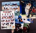 Baseball Collectibles:Photos, New York Yankees Greats Signed Oversized Photographs Lot of 6....