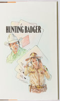Books:Mystery & Detective Fiction, Tony Hillerman. SIGNED WITH DRAWING. Hunting Badger.HarperCollins, 1999. First edition, first printing. Signed by...