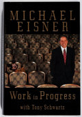 Books:Biography & Memoir, Michael D. Eisner. SIGNED. Work In Progress. Random House, 1998. First edition, first printing. Signed by the auth...