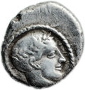 Ancients:Judaea, Ancients: Philistia (5-4 centuries BC). AR quarter-shekel (15.3 mm,3.91 gm, 6h)....