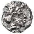 Ancients, Ancients: Philistia (5-4 centuries BC). AR quarter ma'ah-obol (5.6mm, 0.13 gm, 6h)....