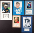 Miscellaneous Collectibles:General, Misc. Sports Stars Signed Displays Lot of 5....