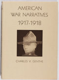 Books:Americana & American History, Charles V. Genthe. American War Narratives 1917-1918. DavidLewis, 1969. First edition, first printing. Mild rub...