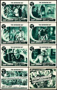 """Flash Gordon Conquers the Universe (Universal, 1940). Lobby Card Set of 8 (11"""" X 14""""). Chapter 4 -- """"The..."""