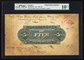 Canadian Currency: , Toronto, ON- United Empire Bank of Canada $5 circa 1906 Ch. #760-10-02PM Back Printer's Model. ...