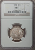 Barber Quarters: , 1895 25C MS64 NGC. NGC Census: (45/31). PCGS Population (50/28).Mintage: 4,440,880. Numismedia Wsl. Price for problem free...