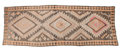 Rugs & Textiles:Hook Rugs, A KILIM WOOL RUG . 20th century . 165 x 57 inches (419.1 x 144.8cm). Elton Hyder III Collection Formerly at the Universit...
