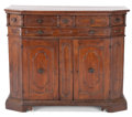 Furniture , AN ITALIAN BAROQUE WOOD CABINET . 17th century (in part). 45-3/4 inches high x 54-1/4 inches wide x 20-1/2 inches deep (116....