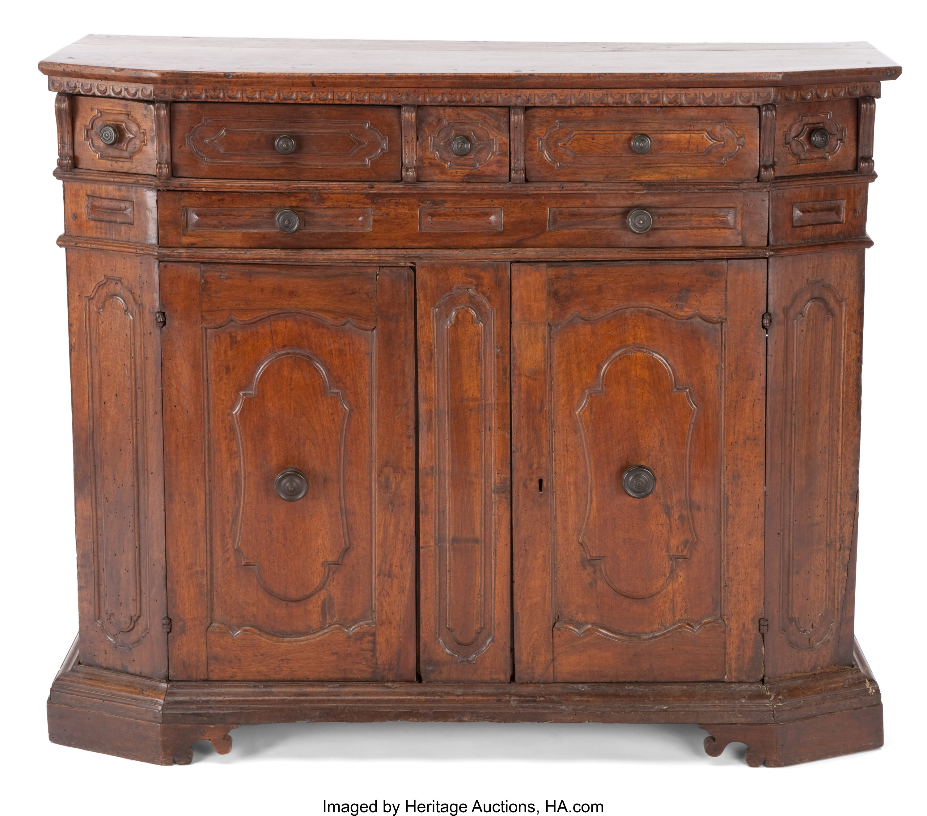 An Italian Baroque Wood Cabinet 17th