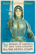 "Prints, HASKELL COFFIN (American, 20th Century). ""Joan of Arc SavedFrance, Women of America Save Your Country"". Color lithograp..."
