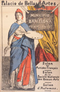 Prints, PALACIO DE BELLAS ARTES, MUNICIPIO DE BARCELONA PRIMAVERA .1917. Color lithograph. 57 x 37 inches (144.8 x ...