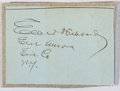 Autographs:Authors, Elbert Hubbard (1856-1915, American Writer and Founder of RoycroftShop). Clipped signature. Very good....