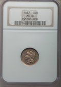 Three Cent Nickels: , 1867 3CN MS64 NGC. NGC Census: (164/49). PCGS Population (153/55).Mintage: 3,915,000. Numismedia Wsl. Price for problem fr...