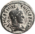 Ancients:City Coins, Ancients: ARABIA. Bostra. Philip I (244 - 249 AD). AE 29mm (17.42 gm, 12h)....
