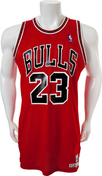 brand new ad1cb b7fb5 1986-87 Michael Jordan Game Worn Chicago Bulls Jersey ...