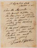 Autographs:Artists, Jacob Epstein (1880-1959, British Artist). Autograph Letter Signedto Carl Laemmle, Jr. Very good....