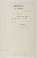 Autographs:Authors, John Erskine (1879-1951, American Writer and Educator). AutographLetter Signed. Very good....