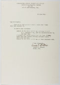 Autographs:Authors, Laurie York Erskine (1894-1976, Scottish-American Writer). Typed Letter Signed. Very good....