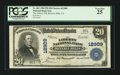 National Bank Notes:California, Beverly Hills, CA - $20 1902 Plain Back Fr. 661 The Liberty NB Ch. # 12909. ...