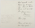 Autographs:Authors, Marie Corelli (1855-1924, British Writer). Autograph Letter Signed.Very good....
