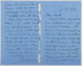 Autographs:Authors, Thomas Hughes (1822-1896, British Writer and Judge). Autograph Letter Signed. Very good....