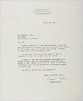Autographs:Authors, Rupert Hughes (1872-1956, American Writer). Typed Letter Signed.Near fine....
