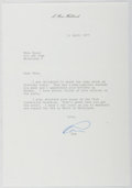Autographs:Authors, L. Ron Hubbard. (1911-1986, American Writer and Creator of Scientology). Typed Letter Signed. Very good....