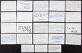 Baseball Collectibles:Others, Baseball Greats Signed Notecards lot of 20+. ...