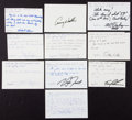 Golf Collectibles:Autographs, Golfing Greats Signed Notecards lot of 10. ...