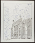 Baseball Collectibles:Others, New York Yankees Greats Multi Signed Print....