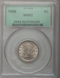 Liberty Nickels: , 1888 5C MS62 PCGS. PCGS Population (33/298). NGC Census: (31/232).Mintage: 10,720,483. Numismedia Wsl. Price for problem f...