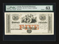 Canadian Currency: , PC-1cP Provincial Debenture $5 (£1.5s) 185_ Pick S162A Proof. ...