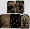Books:Prints & Leaves, Group of Five Nineteenth-Century Tintypes. Largest approx. 4 x 2.75inches. All good or better condition.... (Total: 5 Items)