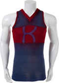 Basketball Collectibles:Uniforms, Circa 1915 University of Kansas Jayhawks Game Worn BasketballJersey....