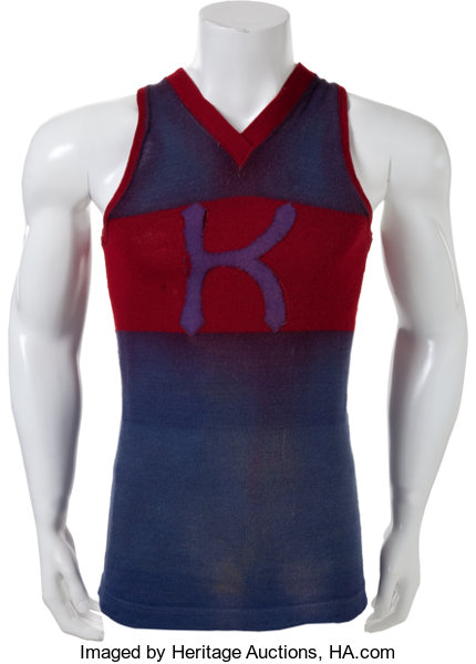 designer fashion b6ba6 c14f7 Circa 1915 University of Kansas Jayhawks Game Worn ...