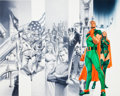 "Original Comic Art:Panel Pages, Doug Klauba and Alex Ross Project Superpowers: Chapter Two#12 ""Dynamic Man Origin"" Double-Page Spread Origina..."