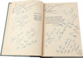 """Movie/TV Memorabilia:Autographs and Signed Items, A John Wayne and Others Signed Book """"The High and the Mighty,""""Circa 1954...."""