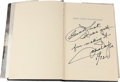 """Movie/TV Memorabilia:Autographs and Signed Items, A John Wayne and Others Signed Book """"They Were Expendable.""""..."""