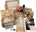 Movie/TV Memorabilia:Autographs and Signed Items, A Judy Garland Make-Up Case, Sewing Basket, and Travel Mirror, Circa 1968.... (Total: 3 Items)