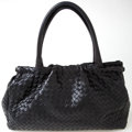 Luxury Accessories:Bags, Heritage Vintage: Bottega Veneta Black Woven Lambskin Leather Tote....