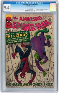 The Amazing Spider-Man #6 (Marvel, 1963) CGC NM 9.4 Off-white pages