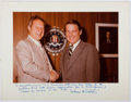Autographs:Celebrities, Unidentified FBI Personality. Photograph Mounted to Signed andInscribed Mat. Inscribed to Ted Gunderson, Former Head of the F...