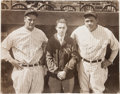 Autographs:Photos, 1927 Babe Ruth & Lou Gehrig Signed Oversized Photograph....