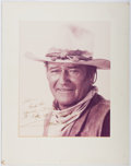 Autographs:Celebrities, John Wayne (1907-1979, American Film Actor). Inscribed Photographto Ted Gunderson, Former Head of the FBI in Los Angeles. A...
