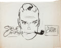 Original Comic Art:Sketches, Milton Caniff Steve Canyon Presentation Sketch Original Art (undated)....