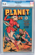 Golden Age (1938-1955):Science Fiction, Planet Comics #55 (Fiction House, 1948) CGC NM 9.4 White pages....