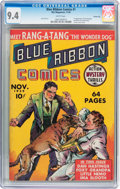 Golden Age (1938-1955):Adventure, Blue Ribbon Comics #1 Carson City pedigree (MLJ, 1939) CGC NM 9.4 White pages....